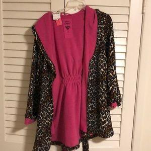 Betsey Johnson Cheetah Fleece Robe